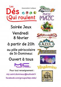 Soirée jeux à Saint Domineuc